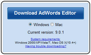 AdWords Editor Version 9.0