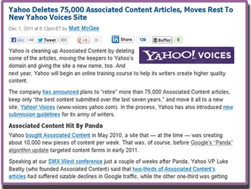 Google War On Content Farm