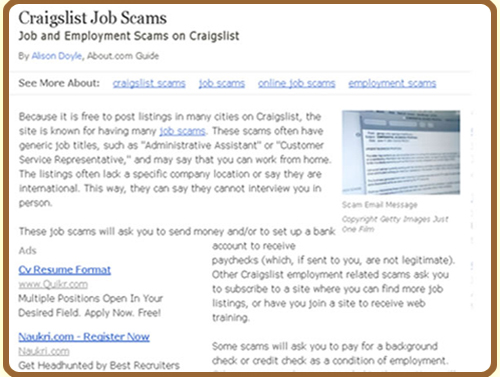 Craigslist Work From Home Scams : GMAIL/GOOGLE HANGOUT JOB