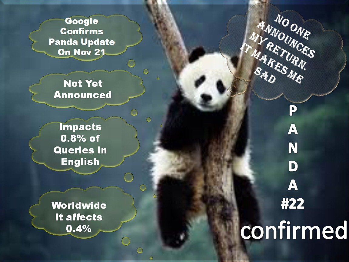 Panda Quotes Panda 22 Google Confirmed Yet Another Update  Seo Blog