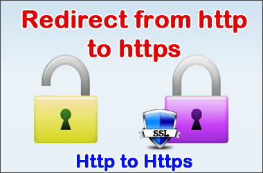 SEO 301 redirect from http to https