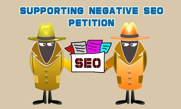 Supporting negative SEO petition