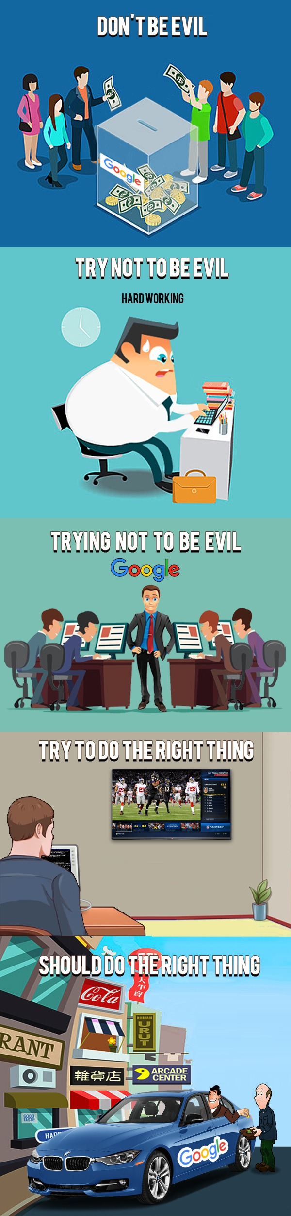 Google do the right thing don't be evil