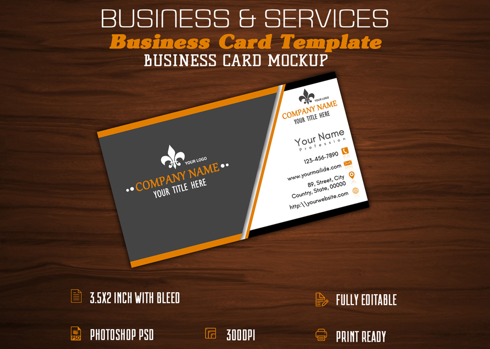 Business card designs business and services reheart Choice Image