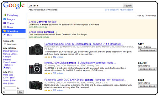 Google image product search 1