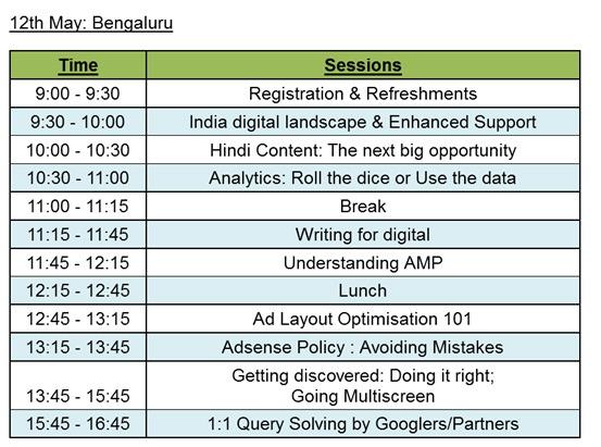 google india pub meet agenda